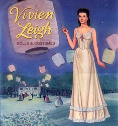 Vivien Leigh paper doll - Gone With the Wind attire