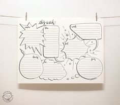 DOODLE Perpetual Weekly Planner: Blurbs / Organizer   Printable Letter Size pdf template   Unique Creative Artistic Management Reminder Tool