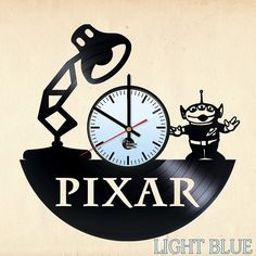 PIXAR Animation Studios Vinyl Record Wall Clock - VINYL CLOCKS