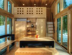 The E.D.G.E (Experimental Dwelling for a Greener Environment), tiny prefab home, is an experiment in all things efficient. Designed and built by Bill Yudchitz + Revelations Architects/Builders Corp. | Tiny Homes