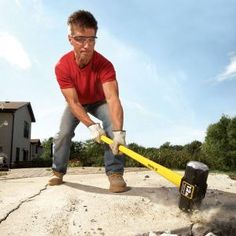 Save time and energy when breaking up a concrete slab or steps: Tips, tools and planning advice guide you through the job and save you big bucks.