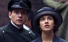 Jessica Brown-Findlay as Lady Sybil Crawley and Allen Leech as Tom Branson in Downton Abbey (2010), Season 1, Episode 4