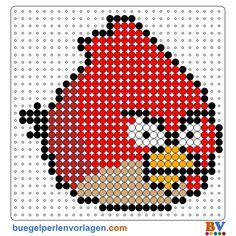 Angry Birds Perler Bead Pattern. Download more patterns at: http://www.buegelperlenvorlagen.com/en