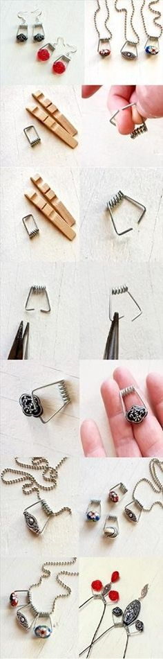 DIY Clothespin Jewelry!!!