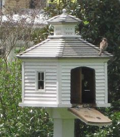 august giveaway no. 1 - a garden birdhouse - Sharon Santoni, Garden Birdhouses website, copied after  a Williamsburg garden house, darling