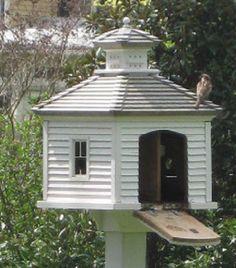 august giveaway no. 1 - a garden birdhouse - Sharon Santoni, Garden Birdhouses website, copied after  a Williamsburg garden house, darling