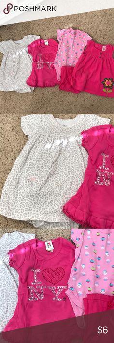 6 months bundle Onesie dress, NY dress, onesie pant set, dress Matching Sets