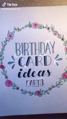Best Friend Birthday Cards, Creative Birthday Cards, 18th Birthday Cards, Homemade Birthday Cards, Birthday Letters, Happy Birthday Wishes, Homemade Cards, Birthday Card For Grandma, Digital Birthday Cards