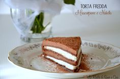 La Torta fredda Mascarpone e Nutella è una torta composta da strati di pasta frolla al cacao, una crema bianca al mascarpone e vaniglia e una crema alla nutella.
