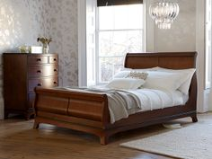 Welcome to Laura Ashley where you can shop online for exclusive home furnishings and womenswear_EN Dark Furniture, Luxury Furniture, Living Room Furniture, Bedroom Drawers, Wood Bedroom, Bedroom Ideas, Laura Ashley Bedroom Furniture, Dark Wood Bed, How To Dress A Bed