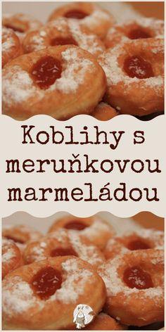 Koblihy s meruňkovou marmeládou Baking, Breakfast, Food, Hampers, Bread Making, Breakfast Cafe, Patisserie, Essen, Backen