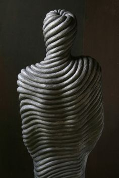 """Spool"" (2006), by Emil Alzamora. Gypsum"