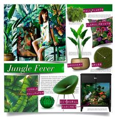 """""""Jungle Fever"""" by tammara-d ❤ liked on Polyvore featuring interior, interiors, interior design, home, home decor, interior decorating, Balmain, Home Decorators Collection, Dot & Bo and DAY Birger et Mikkelsen"""