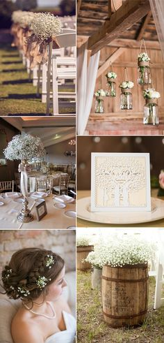 2017 country wedding ideas with babybreath