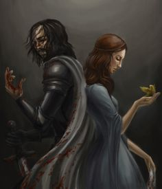 Sandor Clegane and Sansa Stark by ~Risel on deviantART