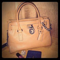 dc7f27bd0036 Michael Kors Hamilton East West Collection Handbag