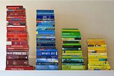 Arranging books by colour