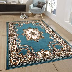 You'll love the Blue Area Rug at Wayfair - Great Deals on all Rugs  products with Free Shipping on most stuff, even the big stuff.
