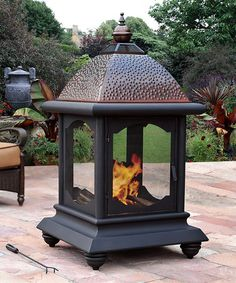 Another great find on #zulily! St. Peter Outdoor Fireplace #zulilyfinds