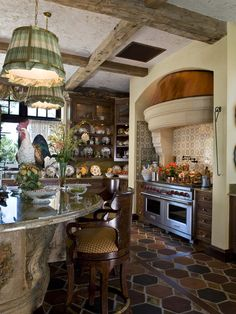 French Country Kitchens Delta Savile Stainless 1-handle Pull-down Kitchen Faucet Diy How To Get This Look Dated Style Love The Beams On Ceiling Oh And Basically