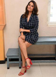 TV Anchor Anasuya Bharadwaj Hot Long Cross Legs Thighs - TOLLYWOOD STARS  IMAGES, GIF, ANIMATED GIF, WALLPAPER, STICKER FOR WHATSAPP & FACEBOOK
