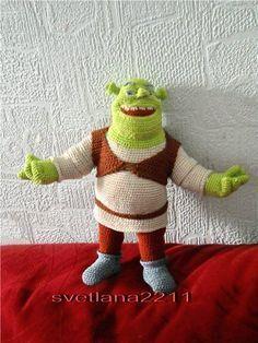 Shrek Amigurumi - FREE Crochet Pattern (use Google Translate)