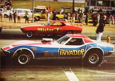 AA/FC Funny Cars Mister T Camaro and The Invader Corvette