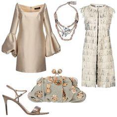 e3aee5b4b084 Chic con accessori particolari  outfit donna Chic per cerimonia