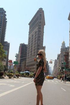 Caitlin Hartley of Styled American girl in NYC in sparkly dress http://styledamerican.com/glam-sheath-dress/