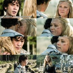 """#The100 2x16 """"Blood Must Have Blood, Part Two"""" - Clarke and Bellamy"""