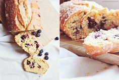 Blueberry-Bread with Coconut and Lemon | Zitroniger Heidelbeer-Kokos-Kuchen