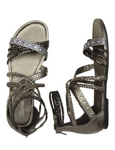 Shop fun & cute girls' sandals at Justice - She'll love our selection of bold gladiator sandals, fashion wedges & more! Tween Fashion, Fashion Bags, Women's Fashion, Girls Sandals, Girls Shoes, Justice Shoes, Justice Stuff, Justice Clothing, Cute Shoes