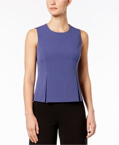 f5feb936b6f Nine West Pleated Peplum Top   Reviews - Tops - Women - Macy s