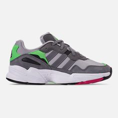 9d5cdb6ec7a Right view of Men s adidas Originals Yung-96 Casual Shoes in Grey Two F17