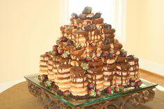 Groom's cake made out of Krispy Kreme Doughnuts! by avaloncm, via Flickr