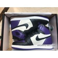 brand new 64982 bc7eb Air Jordan 1 FULL GRAIN LEATHER Purple Toes Women Shoes Size All Code SEC  New Release