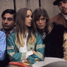 Michelle Phillips and Jill Gibson in the audience at the Monterey Pop Festival, 1967. Monterey Pop Festival, Michelle Phillips, Mamas And Papas, Couple Photos, Couples, Couple Shots, Couple Photography, Couple, Couple Pictures