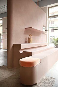Agatha O I Imarika Fashion Store in Milan by Marcante-Testa Design Shop, Deco Design, Store Design, Design Design, Earth Design, Lounge Design, Design Ideas, Wall Design, Dark Interiors