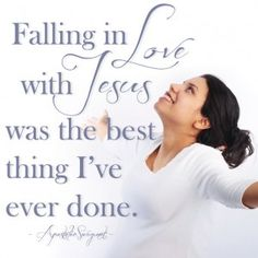 Falling in love with Jesus was the best thing I've ever done. - ApostolicSwag.net