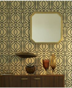 Baroque: Blue & Gold Wallpaper from www.grahambrown.com