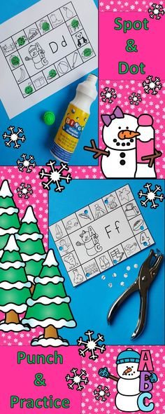 Engaging Winter Literacy Activities for Your Little Learners!  Spot and Dot or Punch and Practice Learning Fun!  $ #winter #beginningsounds  #consonants  #literacycenters  #winterliteracy  #KampKindergarten   #bingodabber  #snowman   https://www.teacherspayteachers.com/Product/Winter-Literacy-Activities-Snow-Friends-Beginning-Consonant-Sounds-2929235