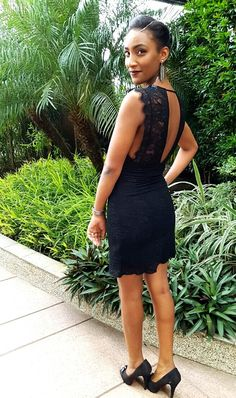 #black #dress #daytime