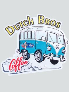 Dutch Bros Coffee Sticker Collection Dutch Bus vinyl printed sticker H x W Stickers ship free! Food Stickers, Laptop Stickers, Cute Stickers, Dutch Bros Drinks, Dutch Brothers, Tumblr Quality, Tumblr Stickers, Dutch Recipes, Aesthetic Stickers