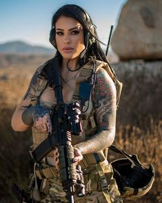 posh women gun Women in the military . Women with guns . Girls with weapons Military Guns, Military Women, N Girls, Inked Girls, Army Girls, Survival, Female Soldier, Army Soldier, Warrior Girl