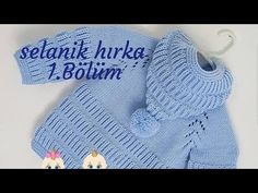 Sequential Thessaloniki with a hooded Hooded Long-Sleeved Cardigan showing up with a detailed descri Baby Cardigan Knitting Pattern Free, Knitted Baby Cardigan, Knit Baby Sweaters, Sweater Hat, Baby Knitting, Crochet Baby, Knitting Patterns, Knit Crochet, Knitting Videos