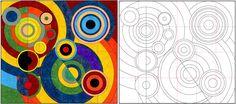 Art Projects for Kids: Robert Delaunay Mural Diagram Collaborative Art Projects For Kids, Quilt Modernen, Art Worksheets, Ecole Art, Middle School Art, High School, Learn Art, Art Graphique, Elements Of Art