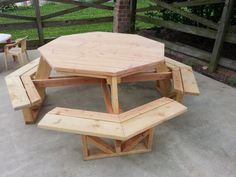 picnic table  refurbished wood | Furniture, : Extraordinary Furniture For Patio And Outdoor Dining Room ...