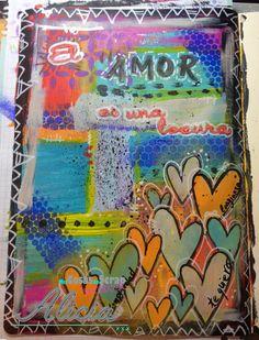 Pagina Art Journal, el amor es....
