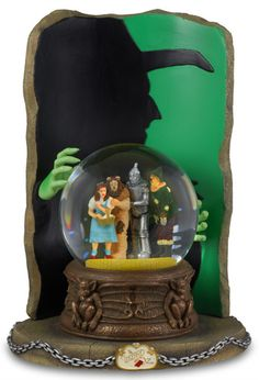 """Wizard of Oz? Music Boxes Oz Four Character Water Globe with \""""Wicked Witch\"""" Silhouette Music Box"""