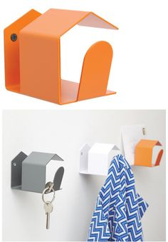 combination coat hook and storage for other small items
